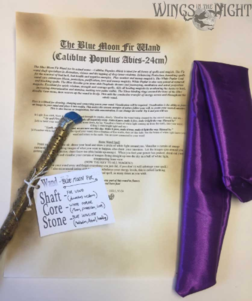 The Blue Moon Fir Magic Wand (24 cm) - Hand Crafted   Pagan, Wicca